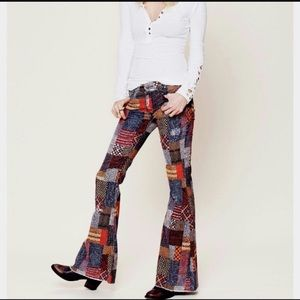 Patchwork Free People Size 29 Pants